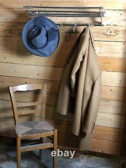 Porte manteaux / serviettes train style Art déco chromé Longueur 72 cm