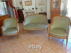 Salon canapé et 2 bergères style LOUIS XVI