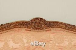 Salon noyer 4 fauteuils 1 canapé style Louis XV dossier à la Reine