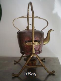 Samovar Ancien Cuivre Et Laiton Bing Bgn Art Nouveau 1900 Modern Style Theiere
