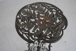 Sellette fonte de fer aux papillons style Art Nouveau musterschutz