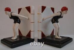 Serre-Livres Baigneuse Pin-up Sexy Plongeuse Style Art Deco Style Art Nouveau