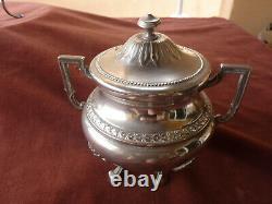 Service thé/café, metal argenté allemand, WMF, style empire, début 20ème
