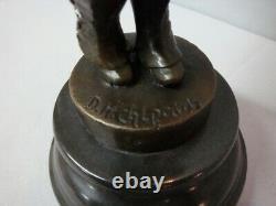 Statue Ecoliere Style Art Deco Style Art Nouveau Bronze massif Signe
