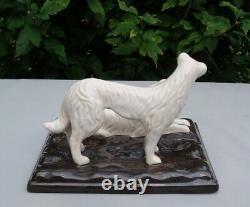 Statue Figurine Chien Levrier Barzoi Animalier Style Art Deco Style Art Nouveau