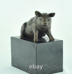 Statue Sculpture Cochon Animalier Style Art Deco Style Art Nouveau Bronze massif