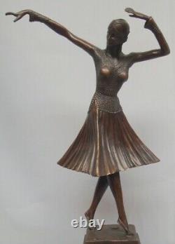 Statue Sculpture Danseuse Charleston Style Art Deco Style Art Nouveau Bronze mas
