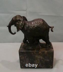 Statue Sculpture Elephant Animalier Style Art Deco Style Art Nouveau Bronze mass