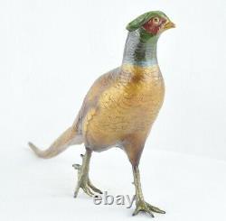 Statue Sculpture Faisan Oiseau Animalier Chasse Style Art Deco Style Art Nouveau