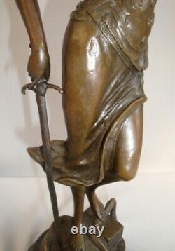 Statue Sculpture La justice Themis Style Art Deco Style Art Nouveau Bronze massi