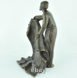 Statue Sculpture Marchand de tapis Oriental Style Art Deco Style Art Nouveau Bro