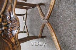 Suite de 7 chaises cannées style Louis XV estampilléd