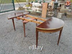 Table Demi-lune (de Repas Et De Jeu) Epoque 1900 De Style Louis 16 En Acajou