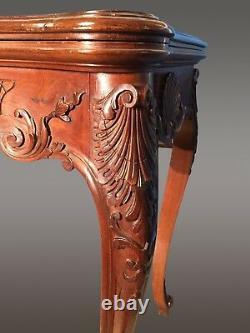 Table à jeux style Louis XV acajou 1900