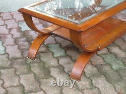 Table basse de Salon rectangulaire Moderniste style Art déco 50/70s Italie