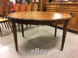Table de salle à manger style Louis XVI époque 1900