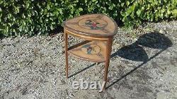 Table tripode de style art nouveau marqueté en bois