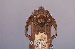 Thermomètre style Art nouveau aux bébés en régule époque 1900