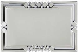 Très Grand Rectangle Cadre Miroir 60cm x 90cm Art Déco Style Grand Miroir Mural