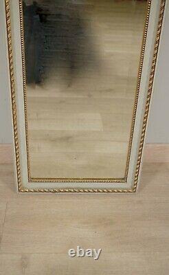Trumeau style Louis XVI bois laqué et doré