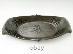 URANIA HOLLAND PEWTER FRUIT STAND style to FRIEDRICH ADLER Arts and Crafts