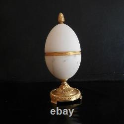 Uf style FABERGE marbre métal doré fait main Belle époque art nouveau N2950