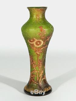 Vallerysthal & Portieux Style Art Nouveau Vase en Verre ° Galle Daum Era