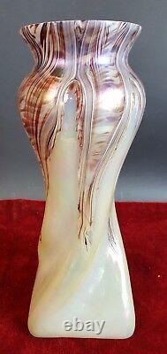 Vase. Cristal Nacré. Style Art Nouveau. France. Xxe Siècle
