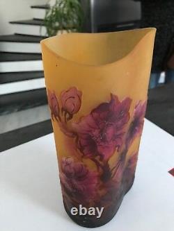 Vase Emaille Pate De Verre Style Legras Galle Cristal Art Deco Art Nouveau Emaux