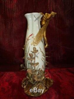 Vase Grenouille Elfe Fee Style Art Deco Style Art Nouveau Porcelaine Bronze
