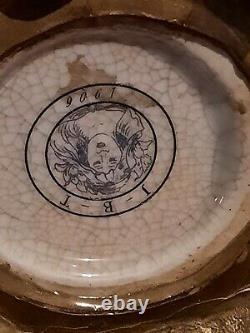 Vase Grenouille Elfe Fee Style Art Deco Style Art Nouveau Porcelaine Bronze JBT9