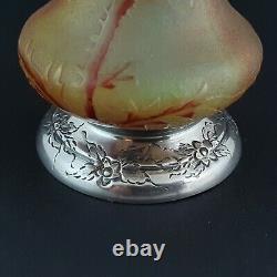 Vase en pâte de verre et argent massif Art Nouveau style Daum