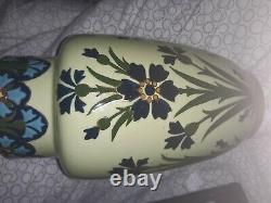 Vase faience Lunéville style art nouveau vers 1900 26cm